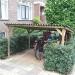fietsenhok van tuinhout & bitumen golfplaat ~ (lxbxh) 240x179x145
