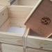 tweede leg ~ 50 houten bakjes voor laboratoria (lxbxh) 20,2x14,5x9,4