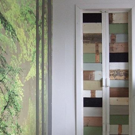 klapdeurtjes van gebruikt hout