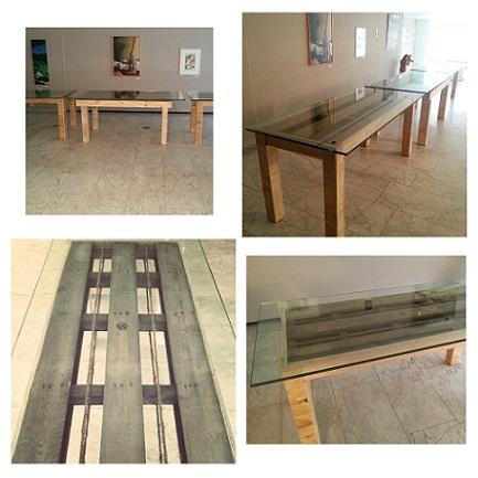 perron nul tafel van pallet en glas-collage_
