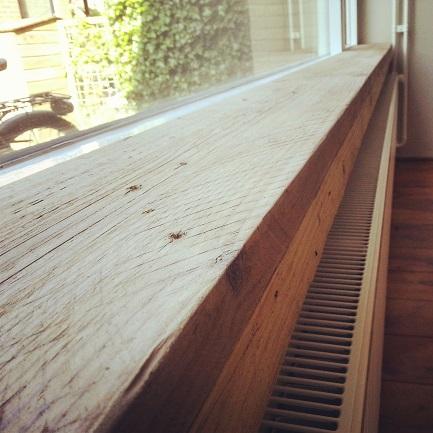 Vensterbank van steigerhout maken